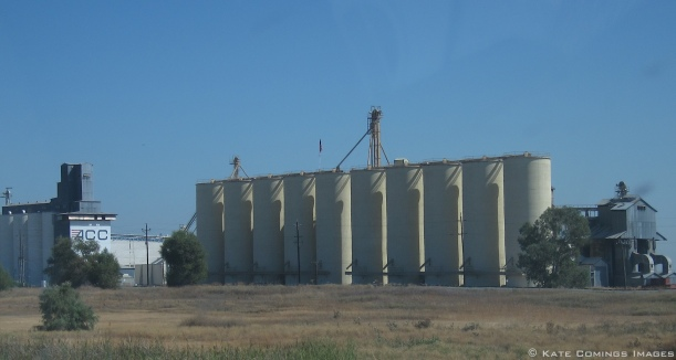 Grain elevators in California's heartland.