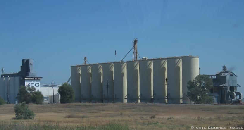 Grain elevators in California's heartland.
